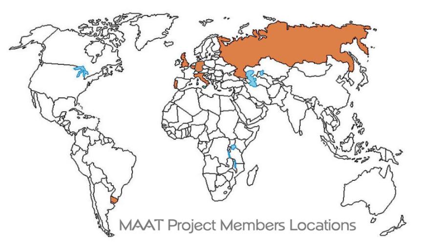 География участников проекта